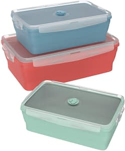 Wamery Silicone Food Storage Containers