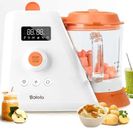 6 in 1 Baby FoodBlender Grinder Steamer Warmer by Mom and Home