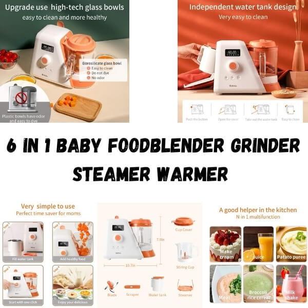 6 in 1 Baby FoodBlender Grinder Steamer Warmer