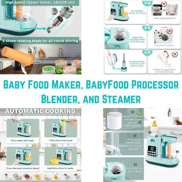 Baby Food Maker, BabyFood Processor Blender, and Steamer