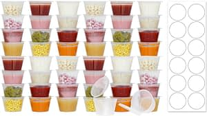 50 Pack BPA-Free Baby Food Freezer Storage Containers