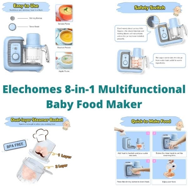Elechomes 8-in-1 Multifunctional Baby Food Maker